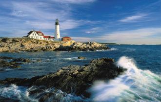 Portland, Maine, Lighthouse, United States, USA, Maine, Cape