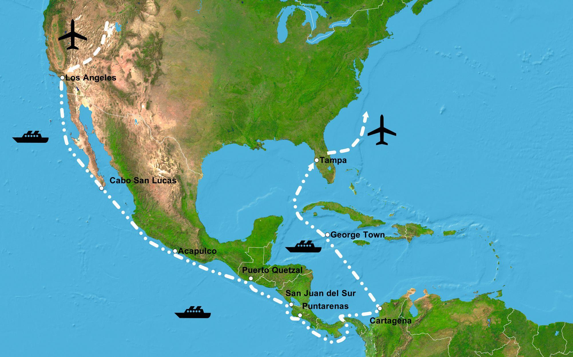 panamakanal karte Karte Panamakanal 2018 neu   VRM Reisen