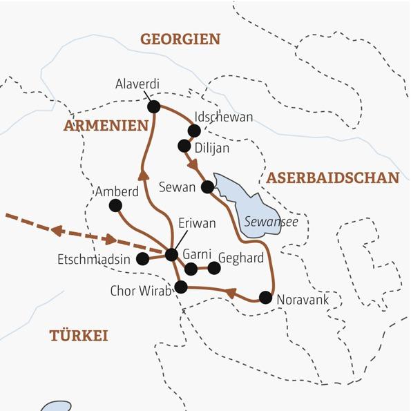 Armenien Karte.Karte Armenien Vrm Reisen