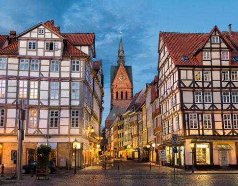 Marktkirche und Altstadt von Hannover, Deutschland
