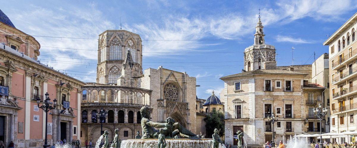 Valencia, Kathedrale, Brunnen © Fotoliajosevgluis