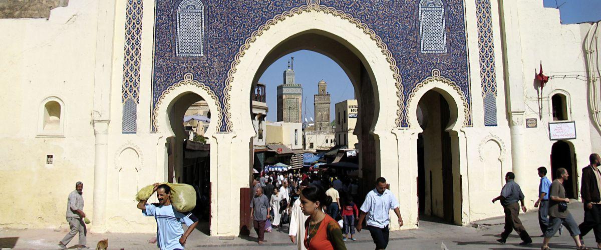 Fes Bab Boujeloud© Marokkanisches Fremdenverkehrsamt