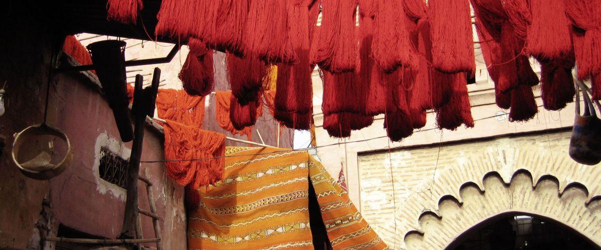 Im Souk Färberei © Marokkanisches Fremdenverkehrsamt