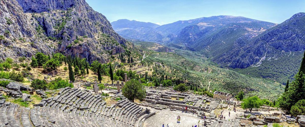 Griechenland Delphi Antikes Theater (c) Fotolia anastasios71
