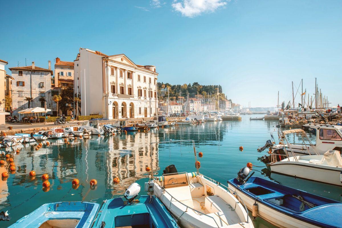 Marina in Piran town