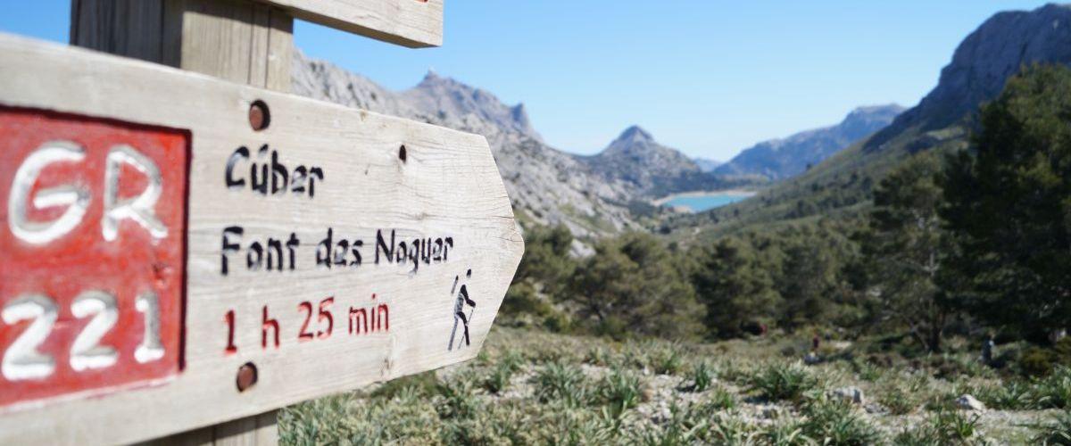 Mallorca_Finca_Cuber_L`Ofre_Wanderwegschild
