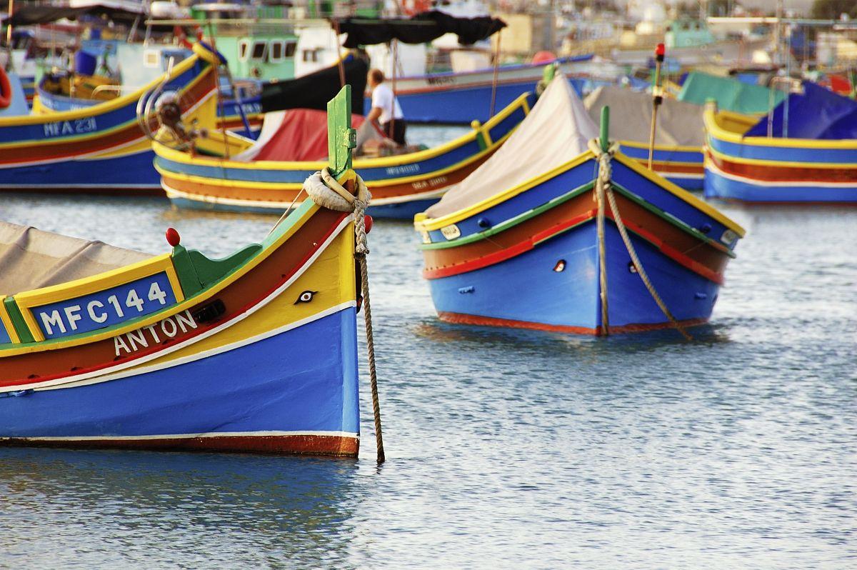Marsaxlokk, Luzzu Boote © Marco Polo Reisen_viewingmalta.com_Maurizio Modena