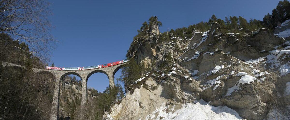 RHAETISCHE BAHN: Glacier Express- Albulalinie (c) Rhaetische Bahn By-line: swiss-image.ch